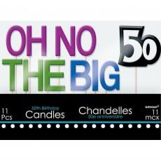 50th Birthday Celebration Candles