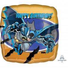 Square Batman Standard HX Happy Birthday! Shaped Balloon 45cm