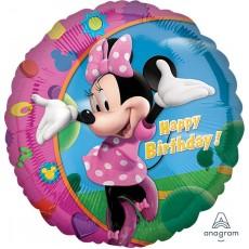 Round Minnie Mouse Standard XL Foil Balloon 45cm