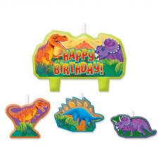 Prehistoric Dinosaurs Mini Moulded Candles Pack of 4