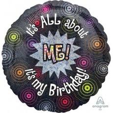 Happy Birthday Standard Holographic Foil Balloon