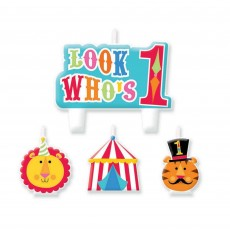Fisher Price 1st Birthday Circus Mini Moulded Candles Pack of 4