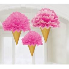 Sweet Stuff Ice Cream Fluffy Hanging Decorations