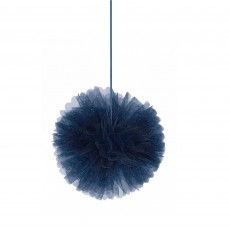Bridal Shower Navy Bride Deluxe Fluffly Tulle Hanging Decorations 30cm Pack of 3