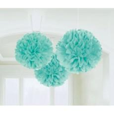 Blue Robin's Egg Fluffy Tissue Hanging Decorations