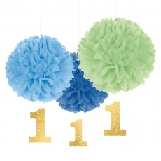 Boy's 1st Birthday Party Decorations - Cutouts Fluffy
