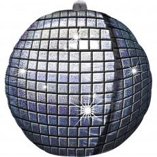 Disco & 70's UltraShape Holographic Disco Ball Shaped Balloon 38cm x 38cm