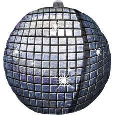 Disco & 70's UltraShape Holographic Disco Ball Shaped Balloon