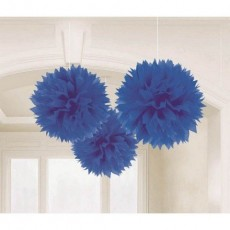Blue Royal Fluffy Tissue Hanging Decorations