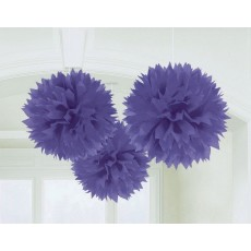 Purple New Fluffy Tissue Hanging Decorations