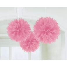 Pink New Fluffy Tissue Hanging Decorations