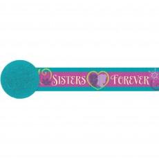 Disney Frozen Sisters Forever Crepe Streamer 5cm x 9.14m