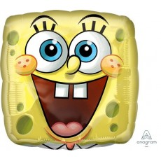Square SpongeBob Standard XL Square Pants Face Foil Balloon 45cm