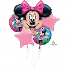 Minnie Mouse Bouquet Foil Balloons Pack of 5