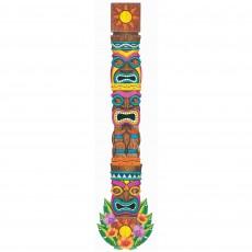 Hawaiian Summer Luau Tiki Island Totem Pole Cutout