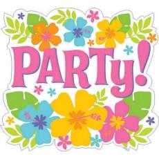 Hawaiian Hibiscus Party! Cutout