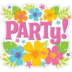 Hawaiian Party Decorations Hibiscus Party! Cutouts
