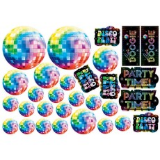 Disco & 70's Disco Fever Value Pack Cutouts Pack of 30