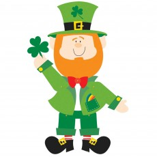 St Patrick's day Leprechaun Jointed Cutout 89cm