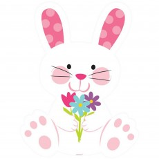 Easter Bunny Rabbit & Flowers Cutout