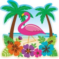 Hawaiian Luau Printed Paper Cutout