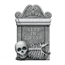 Halloween Party Supplies - Misc Decorations - Tombstone Rest in Pieces