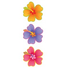 Hawaiian Party Decorations Hibiscus Flower Cutouts