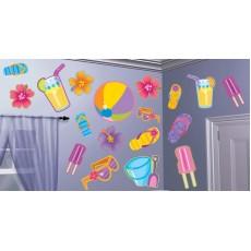Hawaiian Party Decorations Summer Assortment Cutouts
