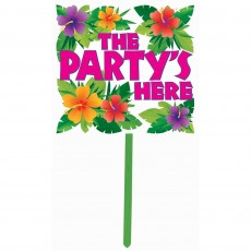 Hawaiian Summer Luau Yard Sign