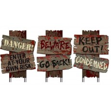 Halloween Party Supplies - Misc Decorations - Cemetery Sidewalk Signs