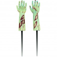 Halloween Party Supplies - Yard Signs - Zombie Hand Stake