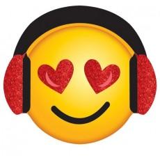 Valentine's Day Valentine Emoji Super Mini Glitter Cutouts