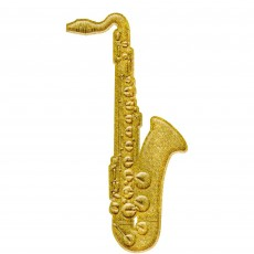 Gold Glittered 3D Saxonphone Plastic Misc Decoration