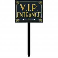Glitz & Glam Black & Gold Large Yard Sign