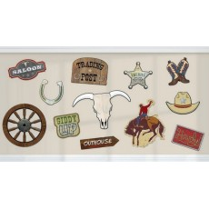 Cowboy & Western Value Pack Cutouts Pack of 12