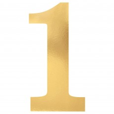 Number 1 Gold Small Foil Board Cutouts