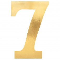 Number 7 Gold Small Foil Board Cutouts