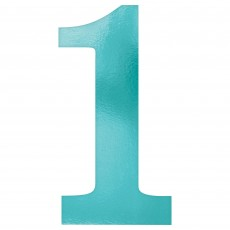 Number 1 Blue Small Foil Board Cutouts