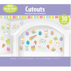Easter Party Decorations - Cutouts Hello Bunny Happy Easter