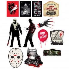 Halloween Friday the 13th & Elm Street Horror Cutouts