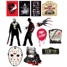 Halloween Party Decorations - Cutouts Friday the 13th Elm Street Horror