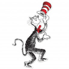 Dr Seuss Party Decorations - Cutout Cat in the Hat Jointed Cutout