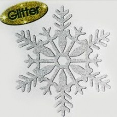 Christmas Silver Glittered Snowflake Hanging Decoration