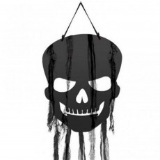 Halloween Skulls with Gauze Hanging Decorations