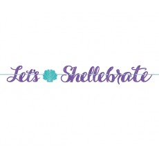 Mermaid Wishes Glitter Ribbon Letter Banner