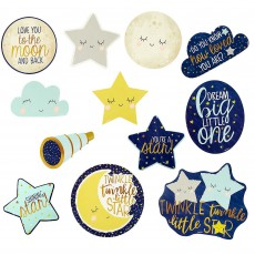 Twinkle Little Star Cardboard Cutouts 17cm to 28cm Pack of 12
