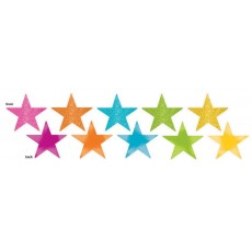 Multi Colour Solid Star Cutouts 12cm Pack of 5