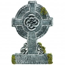 Halloween Mossy Celtic Cross Tombstone Misc Decoration
