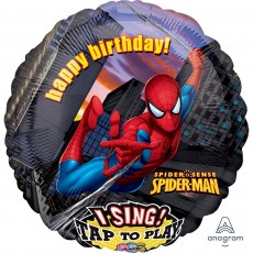 Spider-Man Sing-A-Tune XL Singing Balloon