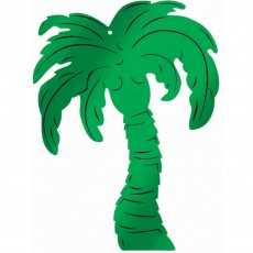 Hawaiian Luau Green Palm Tree Embossed Foil Cutout